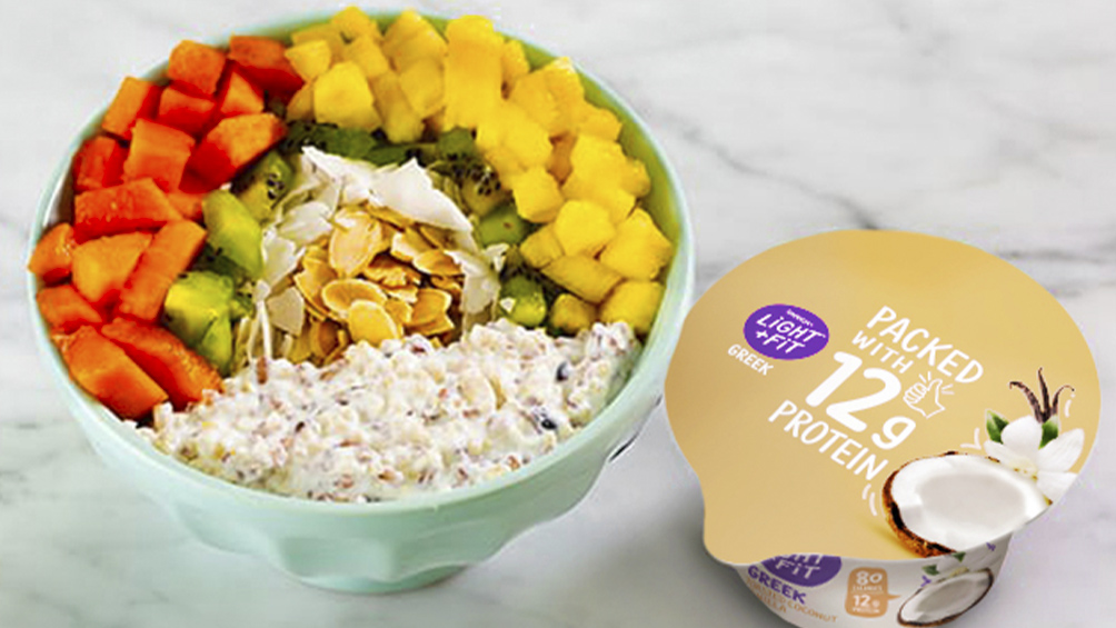 Kauai Crunch Bowl<br class='visible-xs'> with Light & Fit Original Greek Toasted Coconut Vanilla