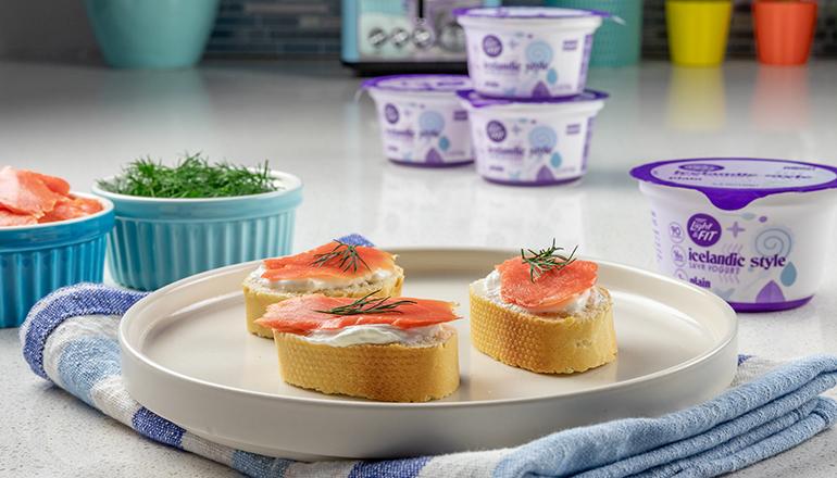 Skyr and Lox with Light And Fit Plain