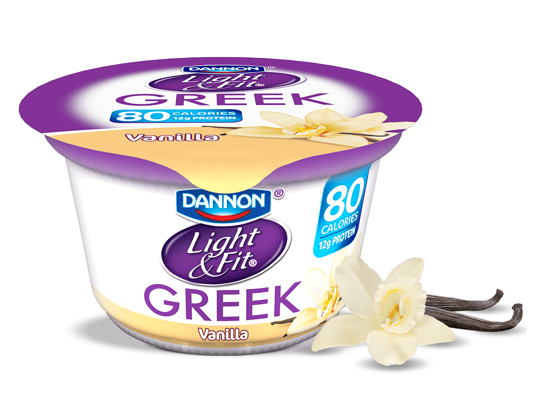 Light and Fit Greek Strawberry Cheesecake Non Fat Yogurt, Ounce - 12 per case.
