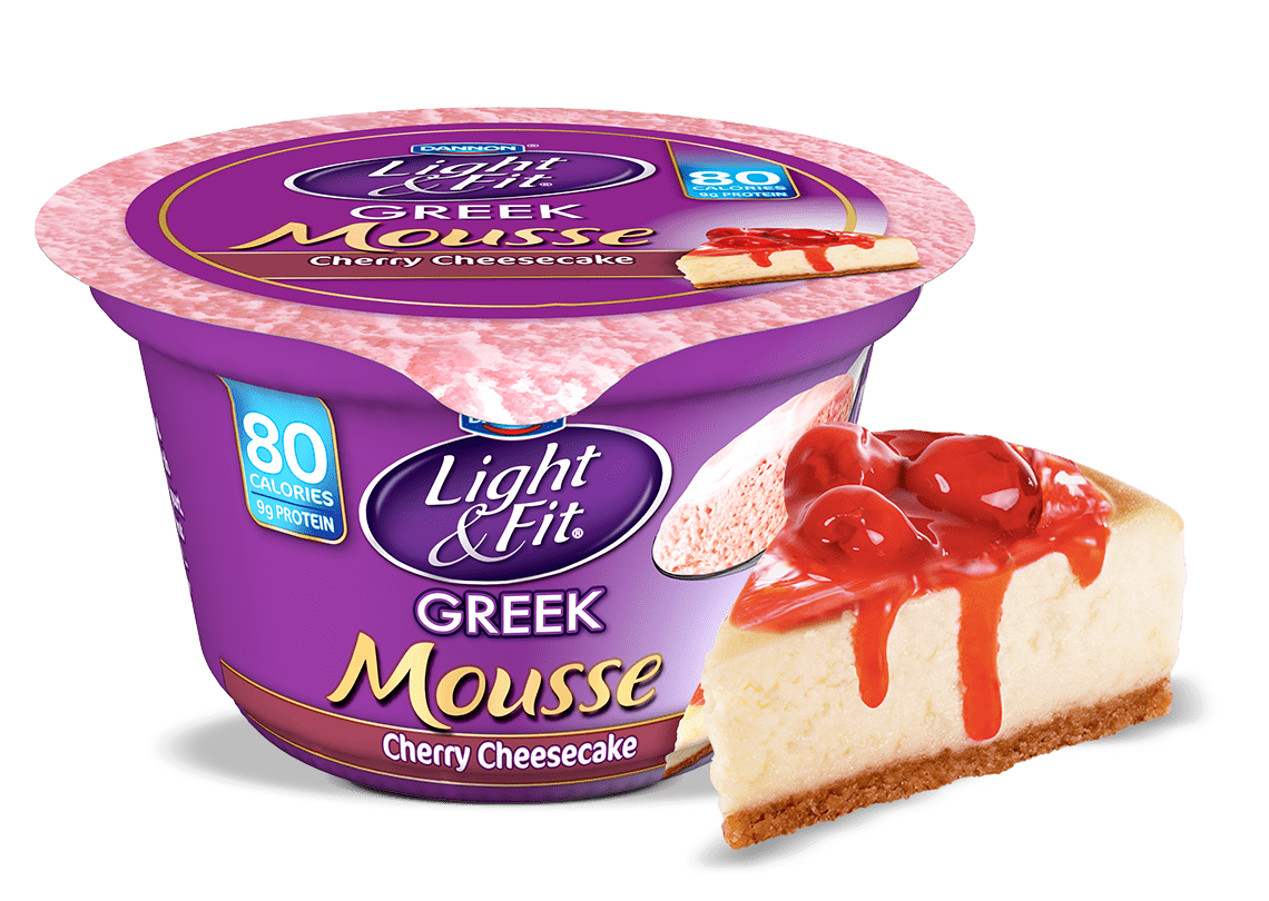 Cherry Cheesecake Nonfat Yogurt Mousse