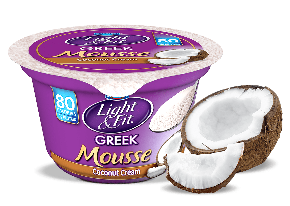 Coconut Cream Nonfat Yogurt Mousse