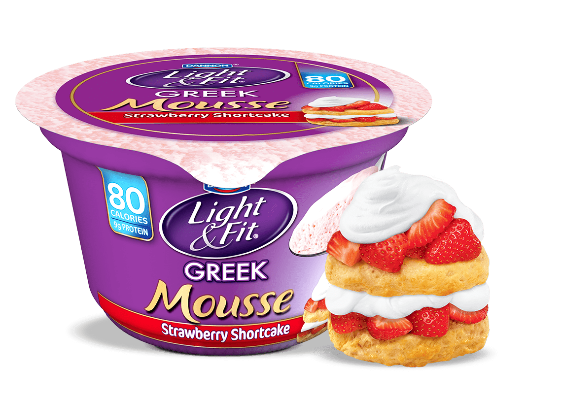 Strawberry Shortcake Nonfat Yogurt Mousse