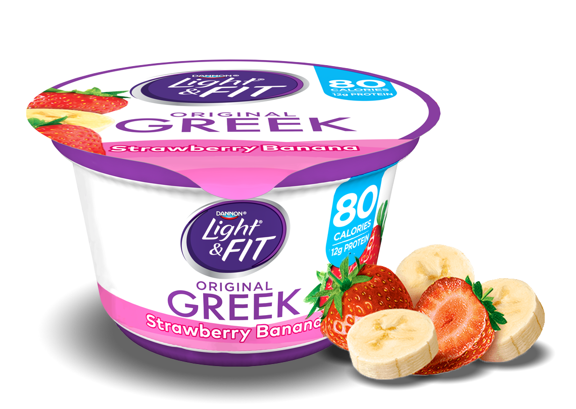 Strawberry Banana Greek Yogurt