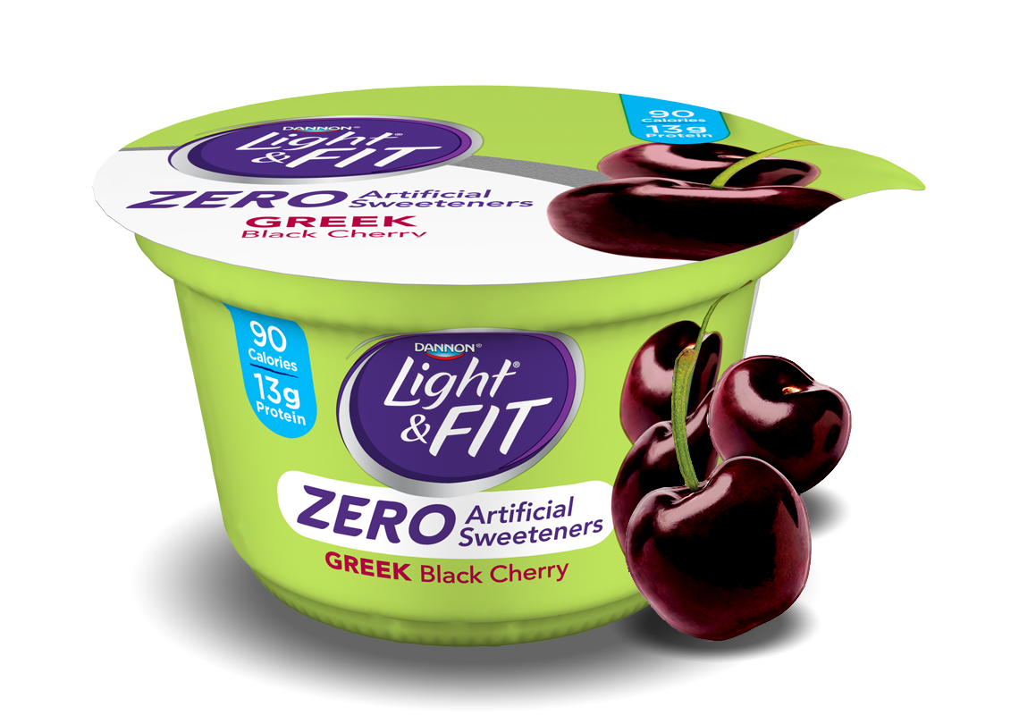 Black Cherry Greek Yogurt without Artificial Sweeteners