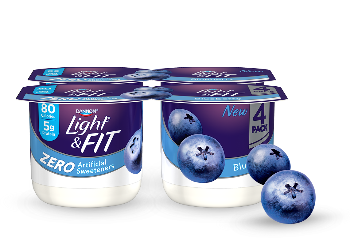 Blueberry Nonfat Yogurt without Artificial Sweeteners