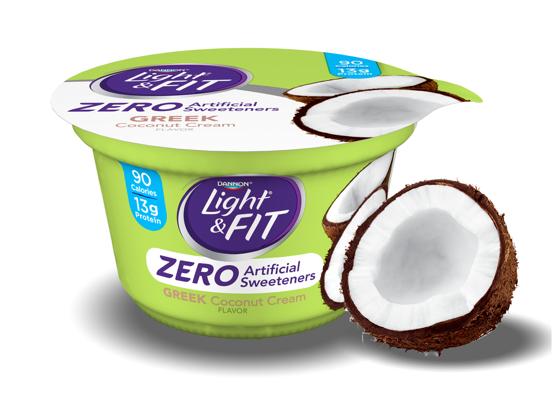 Coconut Cream Greek Yogurt without Artificial Sweeteners