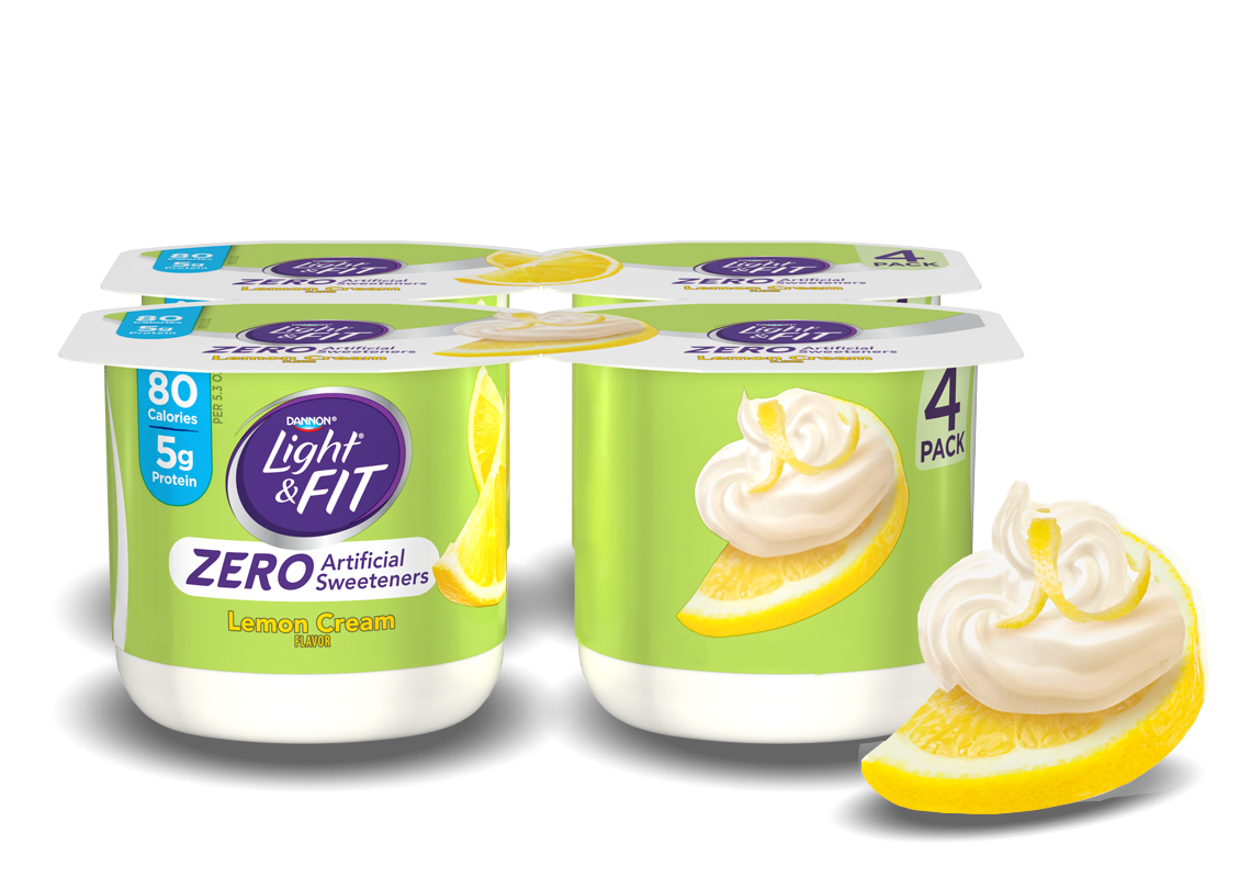 Lemon Cream Nonfat Yogurt without Artificial Sweeteners