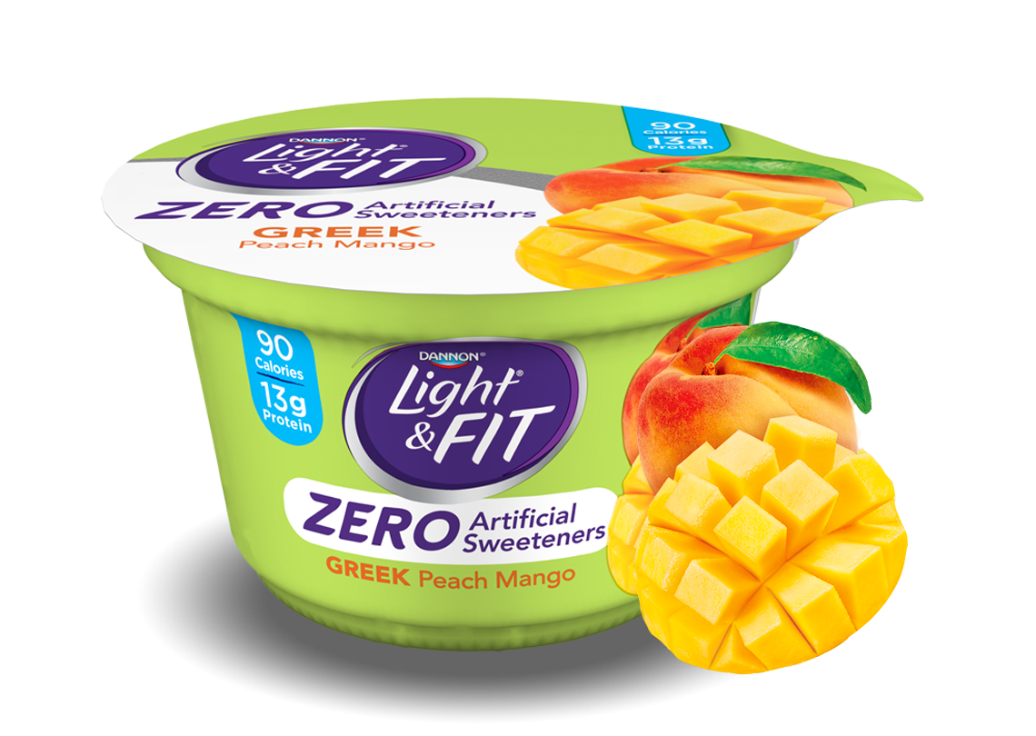 Peach Mango Greek Yogurt without Artificial Sweeteners