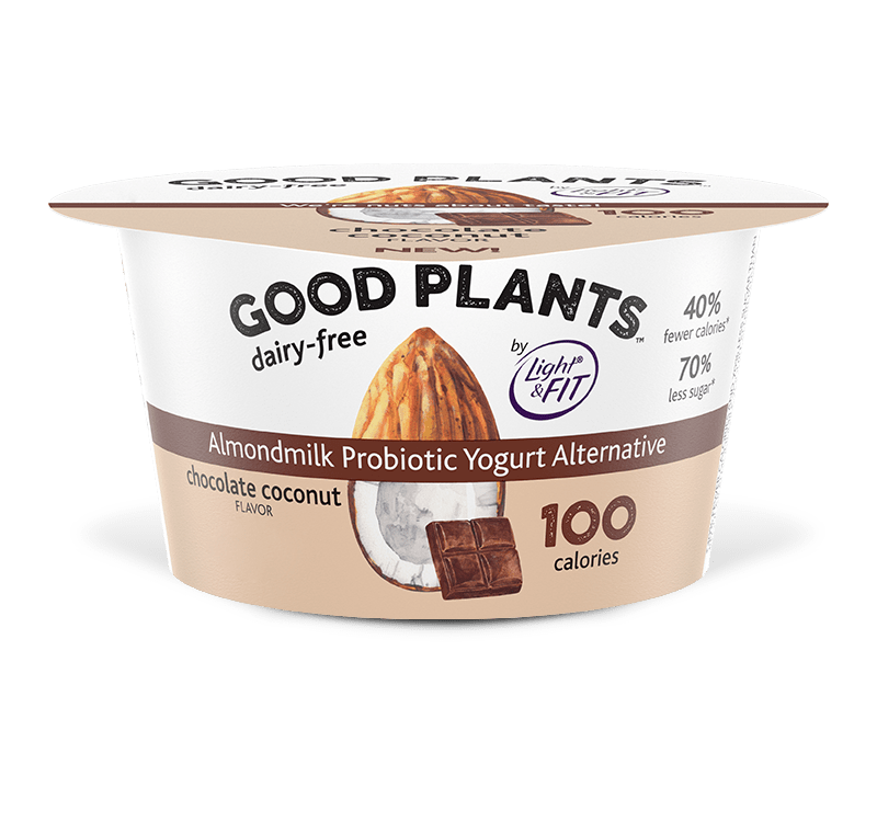 Chocolate Coconut Almondmilk Probiotic Yogurt Alternative