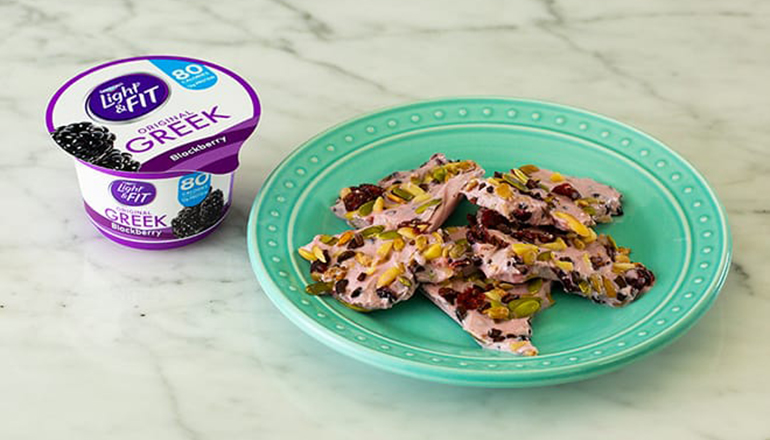 Blaze Your Own Trail Mix Bark with Light & Fit Original Greek Blackberry