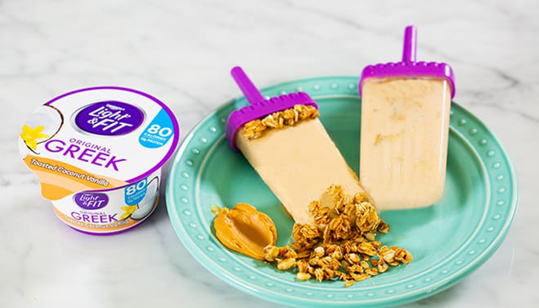 Bring It Breakfast Pops with Light & Fit Original Greek Toasted Coconut Vanilla