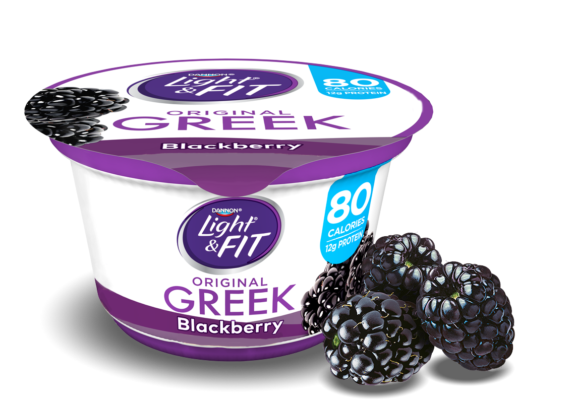 Blackberry Greek Yogurt