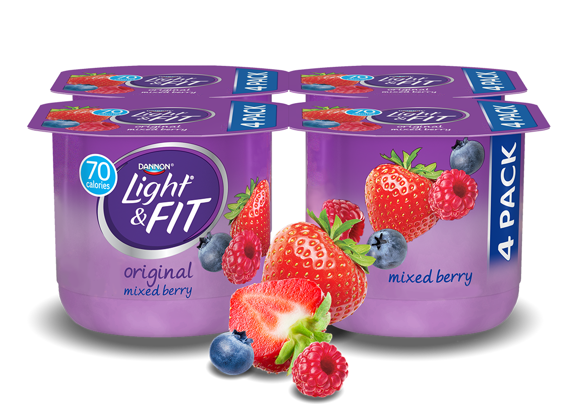 Mixed Berry Nonfat Yogurt