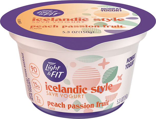 PEACH PASSION FRUIT ICELANDIC STYLE YOGURT